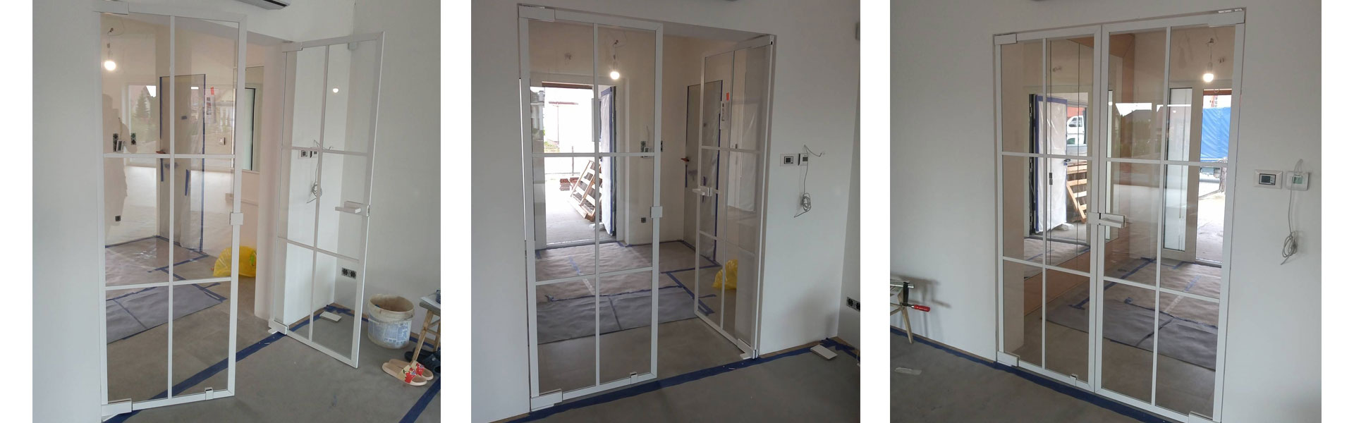 Drzwi szklane dwuskrzydłowe